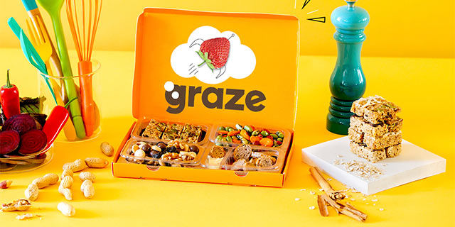 graze - 1st box free + 15% off future snack boxes